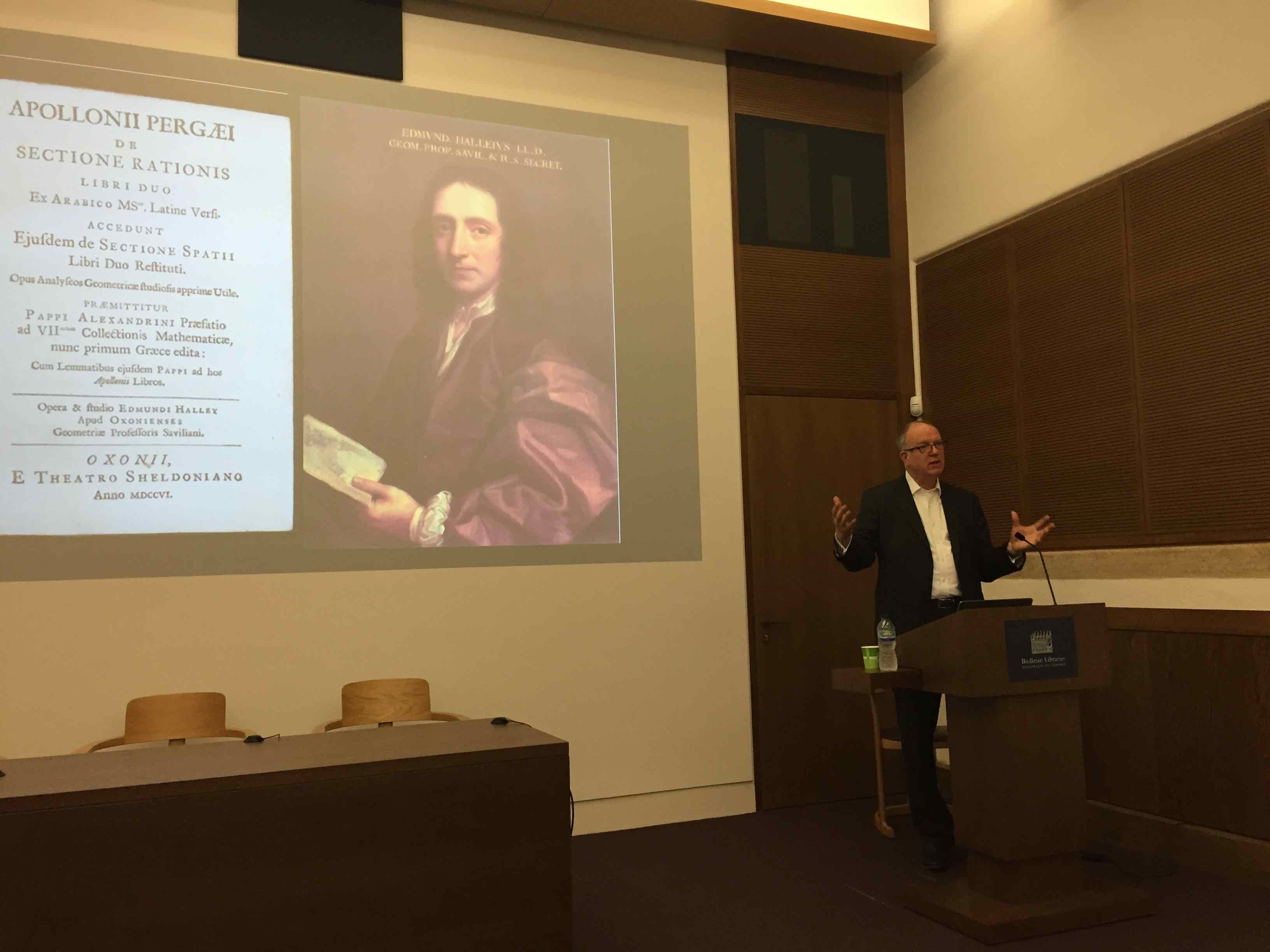 Richard Ovenden's lecture in the Weston Library Lecture Theatre