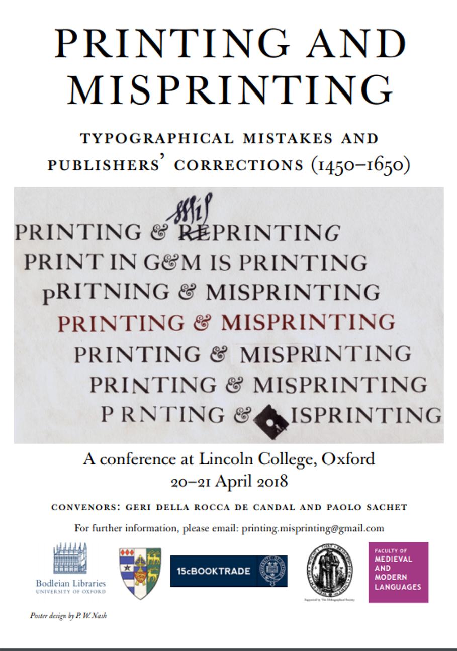 Printing and Misprinting poster